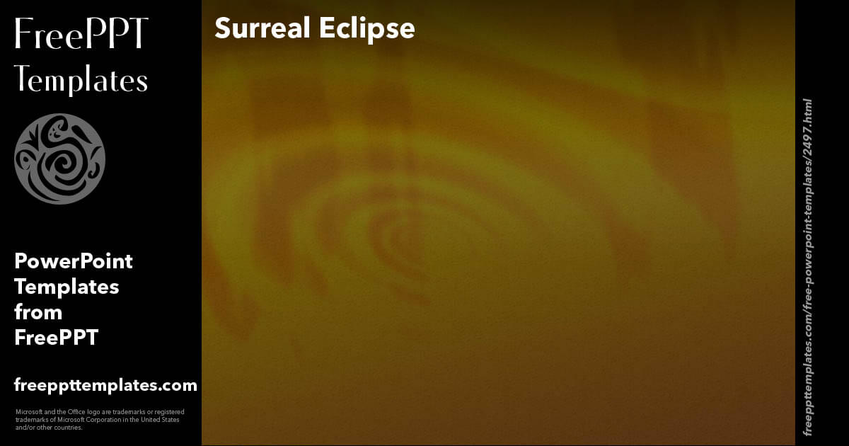 eclipse html template - surreal eclipse powerpoint templates