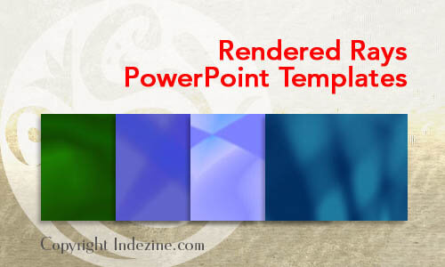 Rendered Rays PowerPoint Templates