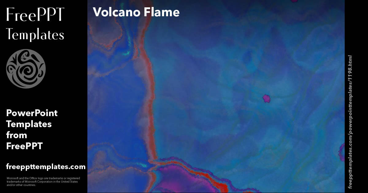 Volcano Flame Powerpoint Templates