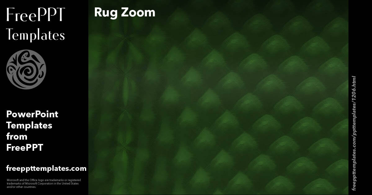 Rug Zoom Powerpoint Templates