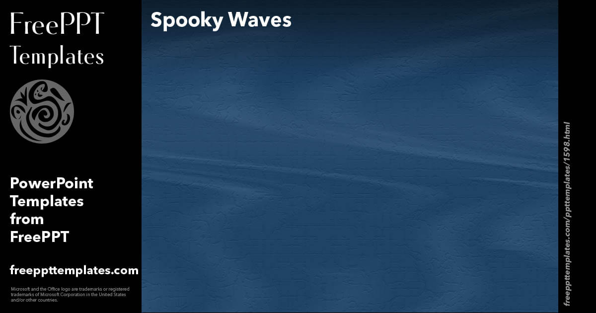 Spooky Waves - PowerPoint Templates